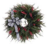 Houndstooth Holiday Wreath