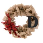 Holiday Berry Burlap Wreath