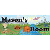 Personalized Canvas Dino Boy Name Sign