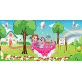 Personalized Canvas Wall Mural Fancy Girl