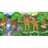 Personalized Canvas Giraffe Boy Wall Mural