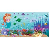 Personalized Canvas Mermaid Girl Wall Mural
