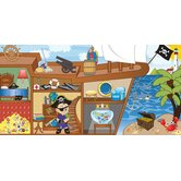 Personalized Canvas Pirate Boy Wall Mural