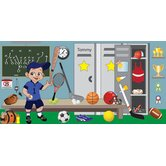 Personalized Canvas Sports Boy Wall Mural