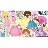 Peel and Play Doll Wall Play Set