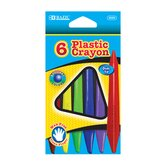 6 Color Dual Tip Triangle Plastic Crayon Set