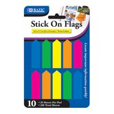 Neon Color Arrow Flags (Set of 10)