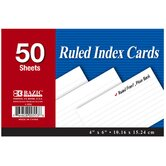 4&quot; x 6&quot; Ruled Index Cards