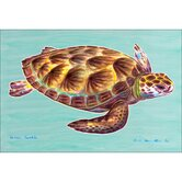 Coastal Sea Turtle Door Mat