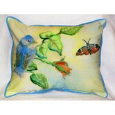 Garden Blue Bird Indoor / Outdoor Pillow