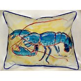 Coastal Blue Lobster Indoor / Outdoor Pillow