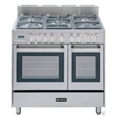 "36"" Double Dual Fuel Convection Range with Oven"