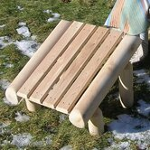 Rustic Natural Cedar Furniture Outdoor Ottomans