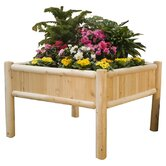 Rustic Natural Cedar Furniture Planters