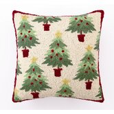 Christmas Collage Tree Hook Wool / Cotton Pillow