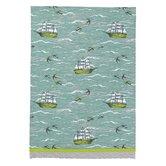 Ship/Birds at Sea Kitchen Towel