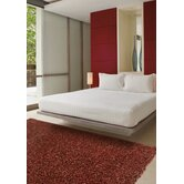 Tribeca Chunky Shag Red Rug