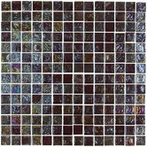 "Geo Glass Square 12"" x 12""  Glass Mosaic in Brown"