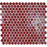 "Geo Glass Circle 12"" x 12""  Glass Mosaic in Red"