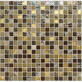 "Crystone CS004 12"" x 12"" Stone and Glass Mosaic"
