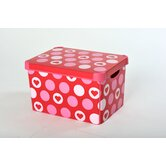22 Litre Hearts Deco Box (Pack of 2)