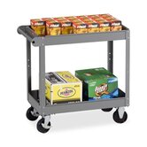 2-Shelf Service Cart, Medium Gray, 2 Sizes