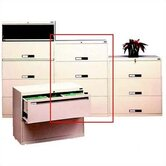 Lateral File With 4 Drawers and Retractable Doors