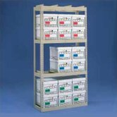 Archive Box Storage Rack With Angle Box Supports