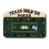 Hand-Carved Texas Hold'em Poker Sign