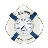 &quot;S.S. Minnow&quot; Outdoor Thermometer and Clock