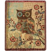 Milo Collection Owls Tapestry Throw