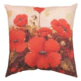 Garden Red Poppies Pillow
