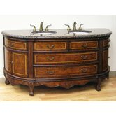 "72"" Woodbridge Double Sink Vanity in Antique Brown"