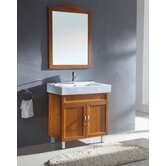 "31.5"" Single Bathroom Vanity Set in Medium Maple"