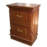 Mahogany 2 Drawer Filing Cabinet with Brass Handles in Mahogany