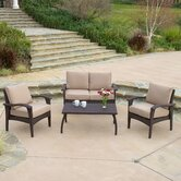 Tullip 4 Piece Deep Seating Set with Cushion
