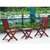 Tahitian 3 Piece Outdoor Dining Set