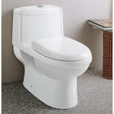 Ceramic Dual Function Elongated Toilet 1 Piece