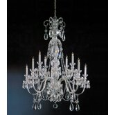 Bohemian 10 Light Crystal Chandelier
