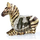 Zebra Figurine Table Top Fan