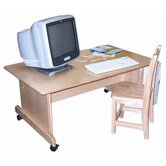 Computer Table with Adjustable Height