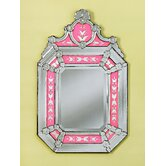 Roxanne Venetian Wall Mirror in Pink