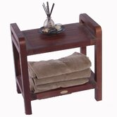 Outdoor Teak Storage Bench Shelf Bookcase or End Table