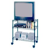 3-Shelf Media Cart