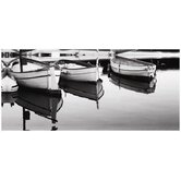 Boats in Harbour Wall Art - 60cm x 90cm