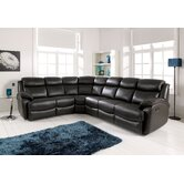 Denver Leather 3 Piece Sectional Sofa