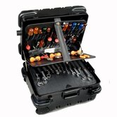 &quot;Military-Ready&quot; Mechanical Hinged Tool Case: 9&quot; H x 18&quot; W x 15&quot; D