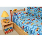 Boys Like Trucks Full Comforter/Bed Skirt/Sham Set