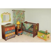 Little Lizards Nursery Bedroom/Bedding Set in Chocolate