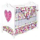 Heart Throb 4 Piece Crib Bedding Set